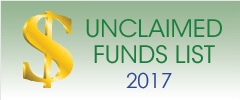 Unclaimed Funds List 2017