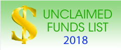 Unclaimed Funds 2018