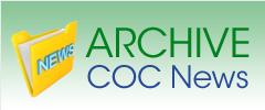 green rectangle with an image of a folder and the words Archive COC News on it